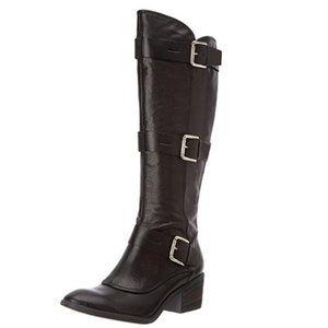 DONALD PLINER Boots 6M Black Dax Tumble/Baby Calf